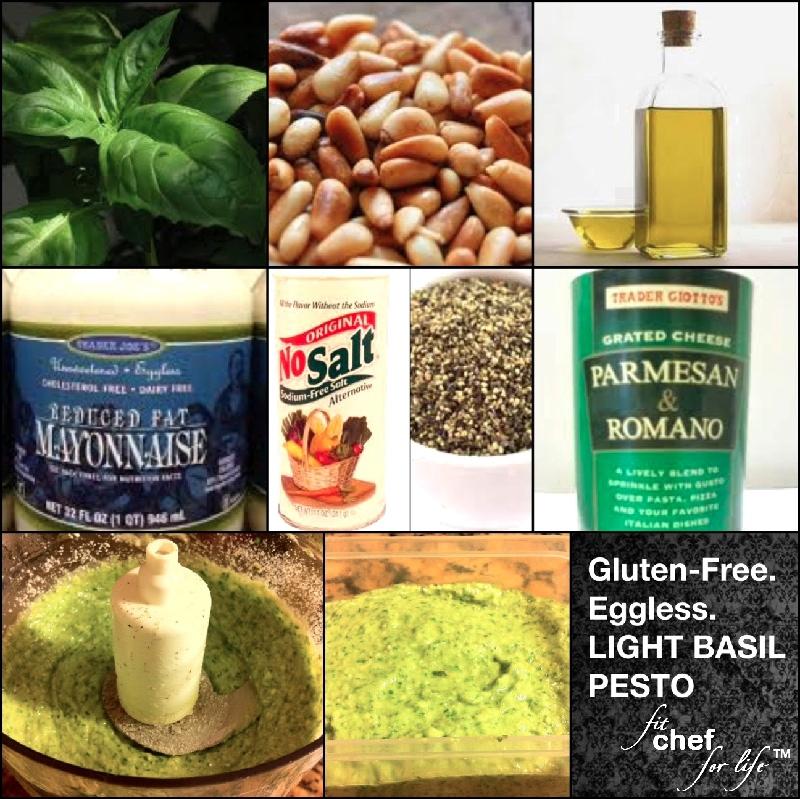 Gluten-Free. Eggless.} Light Basil Pesto